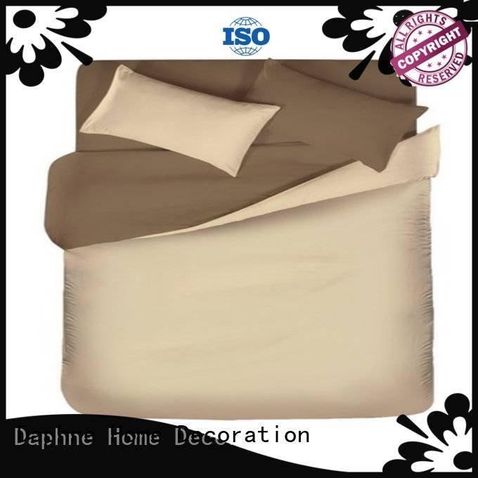 Quality linen bedding sets Daphne Brand bedding Solid Color Bedding
