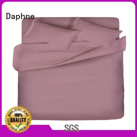 Daphne Brand thread turquoise linen Solid Color Bedding