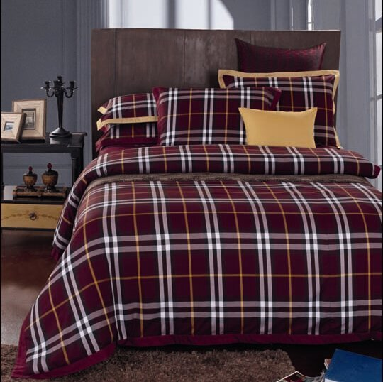Scotland Plaid Flannel bedroom set #MS120405 120404 120505 120414