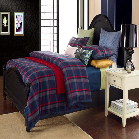 Daphne Scotland Plaid Flannel bedroom set #MS120405 120404 120505 120414 100% Cotton Printed image54