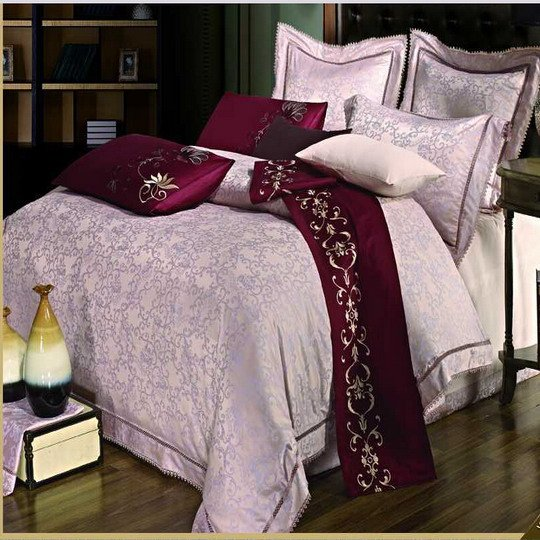 Noble Jacquard Flat Sheet Set #YC-101