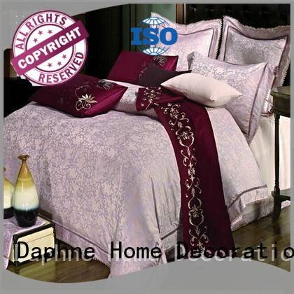 Hot jacquard duvet cover king rayon beautiful noble Daphne Brand