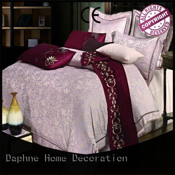 jacquard duvet cover king sheet bamboo Jacquard Bedding Set Daphne Brand