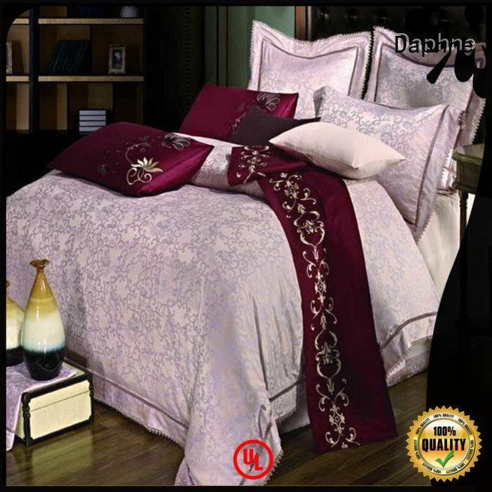 OEM jacquard duvet cover king bamboo sheet cover Jacquard Bedding Set