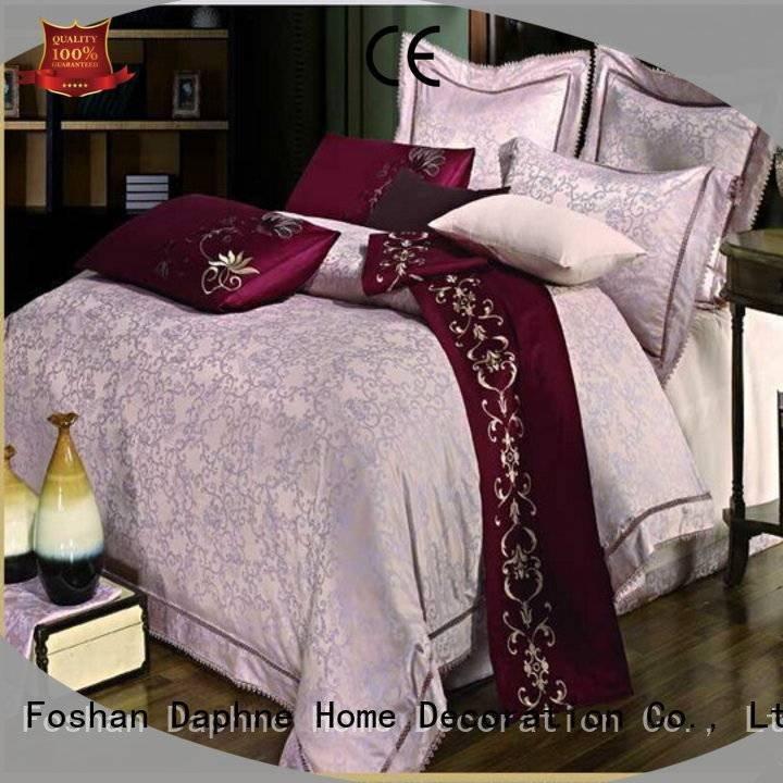 Daphne floral vividly Jacquard Bedding Set elegant cotton