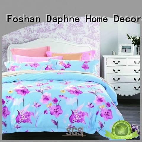 pattern blossom plaid Daphne 100 cotton bedding sets