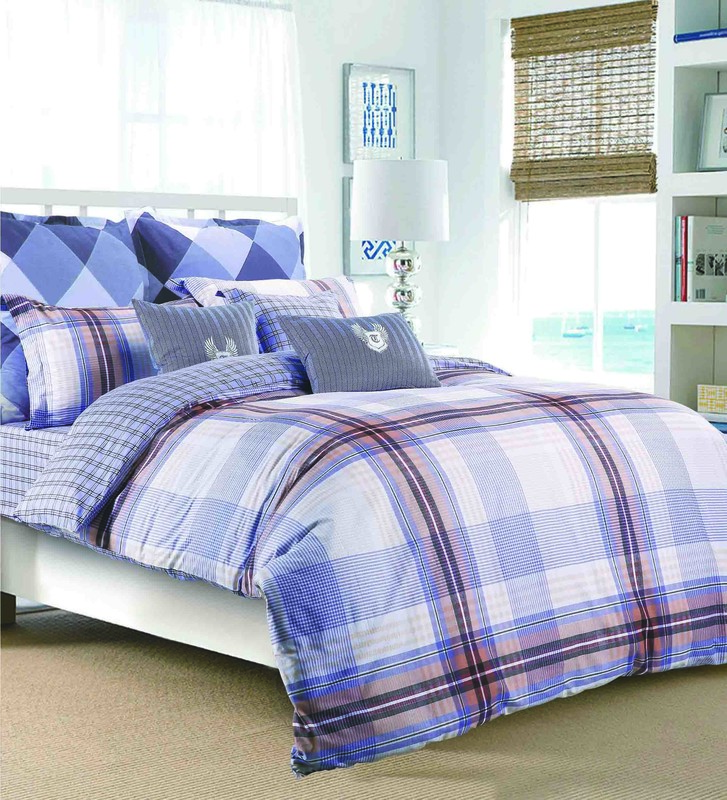 Classical Plaid Figure Bedding Set