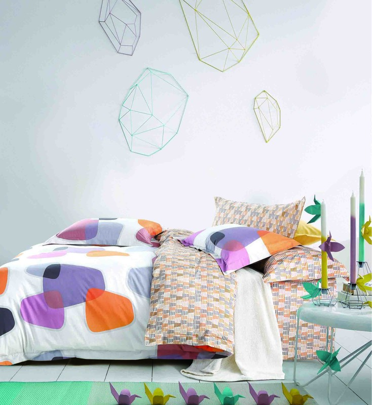 Brightly Colored Cotton Duvet Cover Set   161437