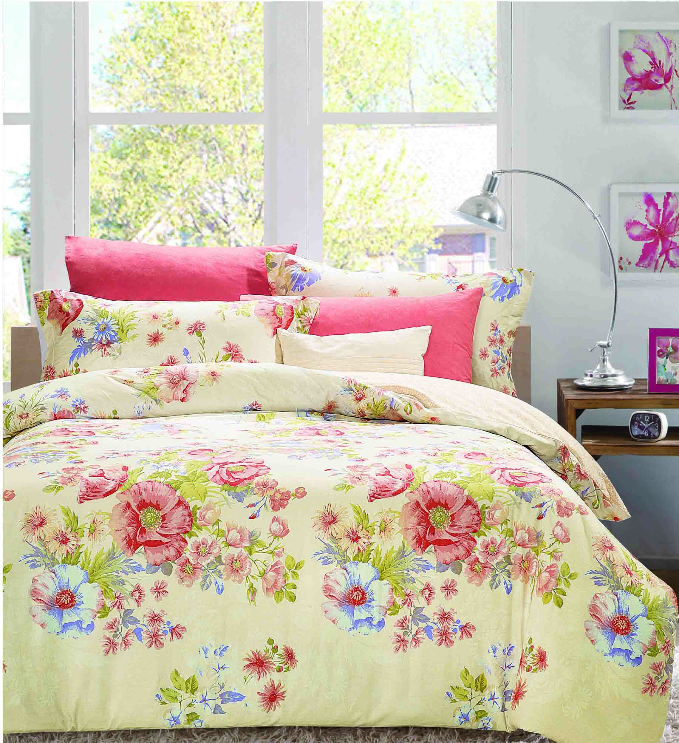 Daphne Vivid Floral Patterns Printed Bedding Set   161136 100% Cotton Printed image64