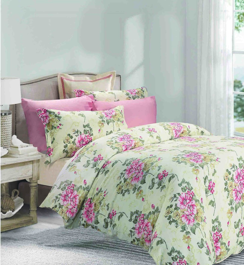 Elegant Blossom Cotton Bedding Set   161145