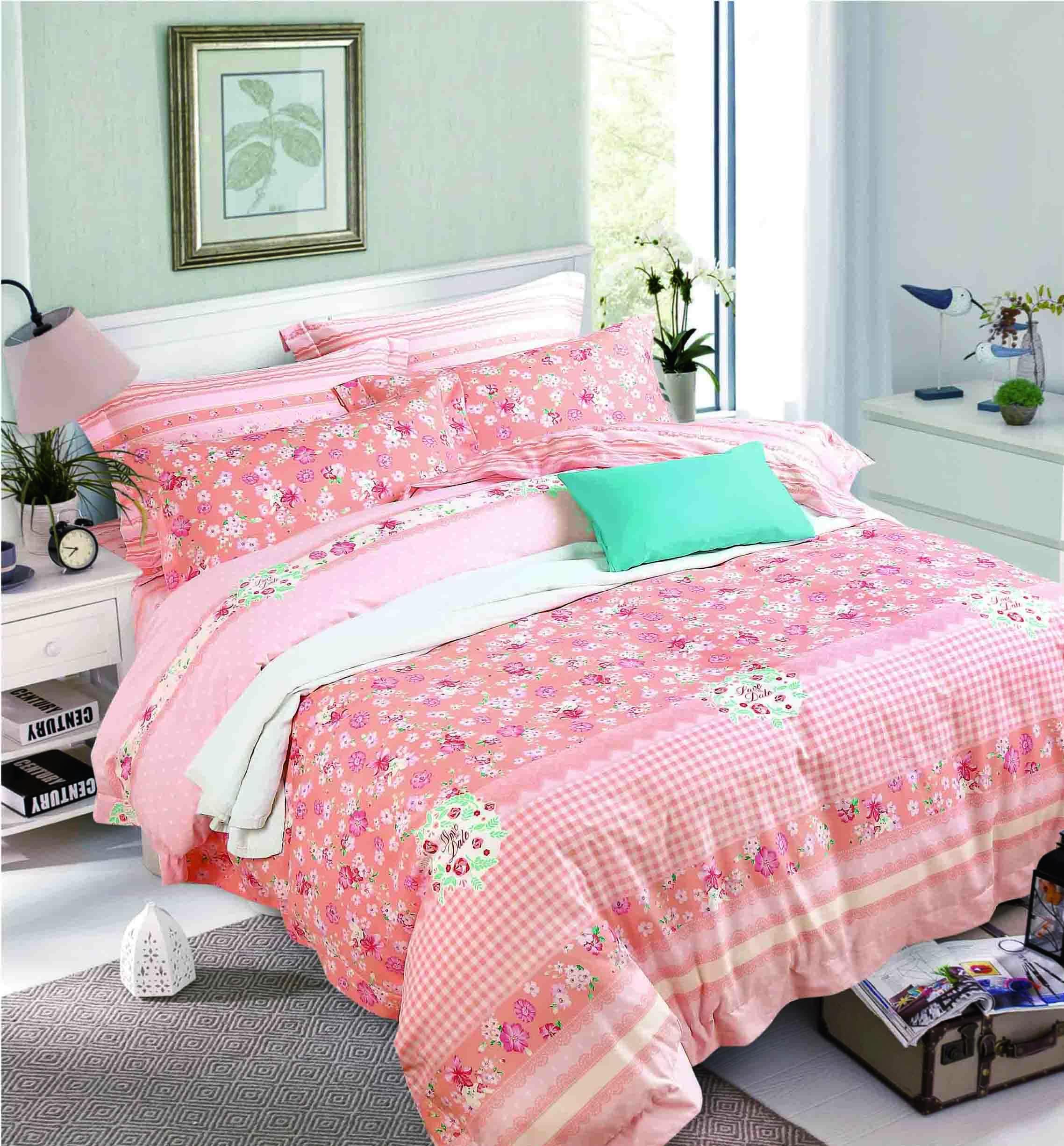 Daphne Long-staple Cotton Bedding Set Plaid Patterns 171408 100% Cotton Printed image3