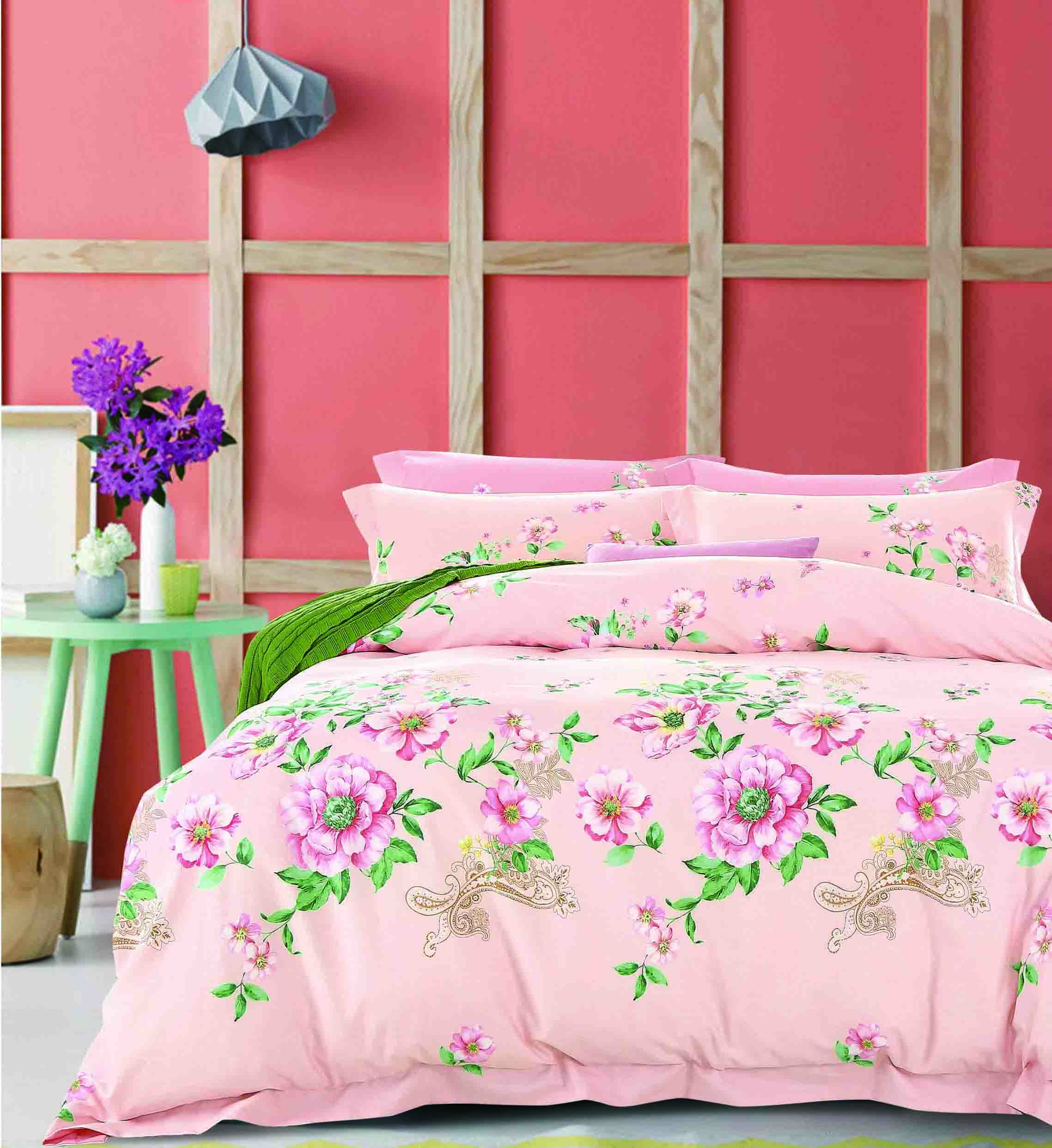 Vivid Floral Printed Bedding Set   #161444