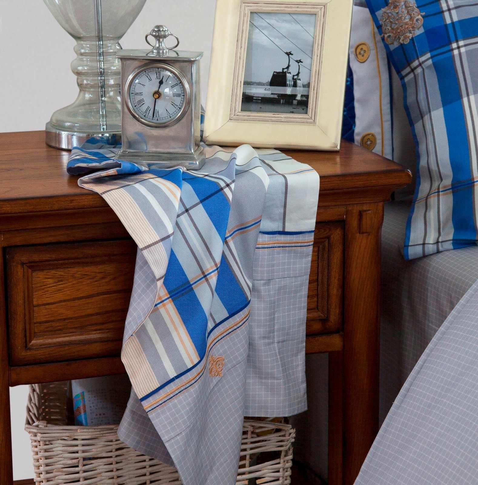Classic Plaid Cotton Bedding  6840