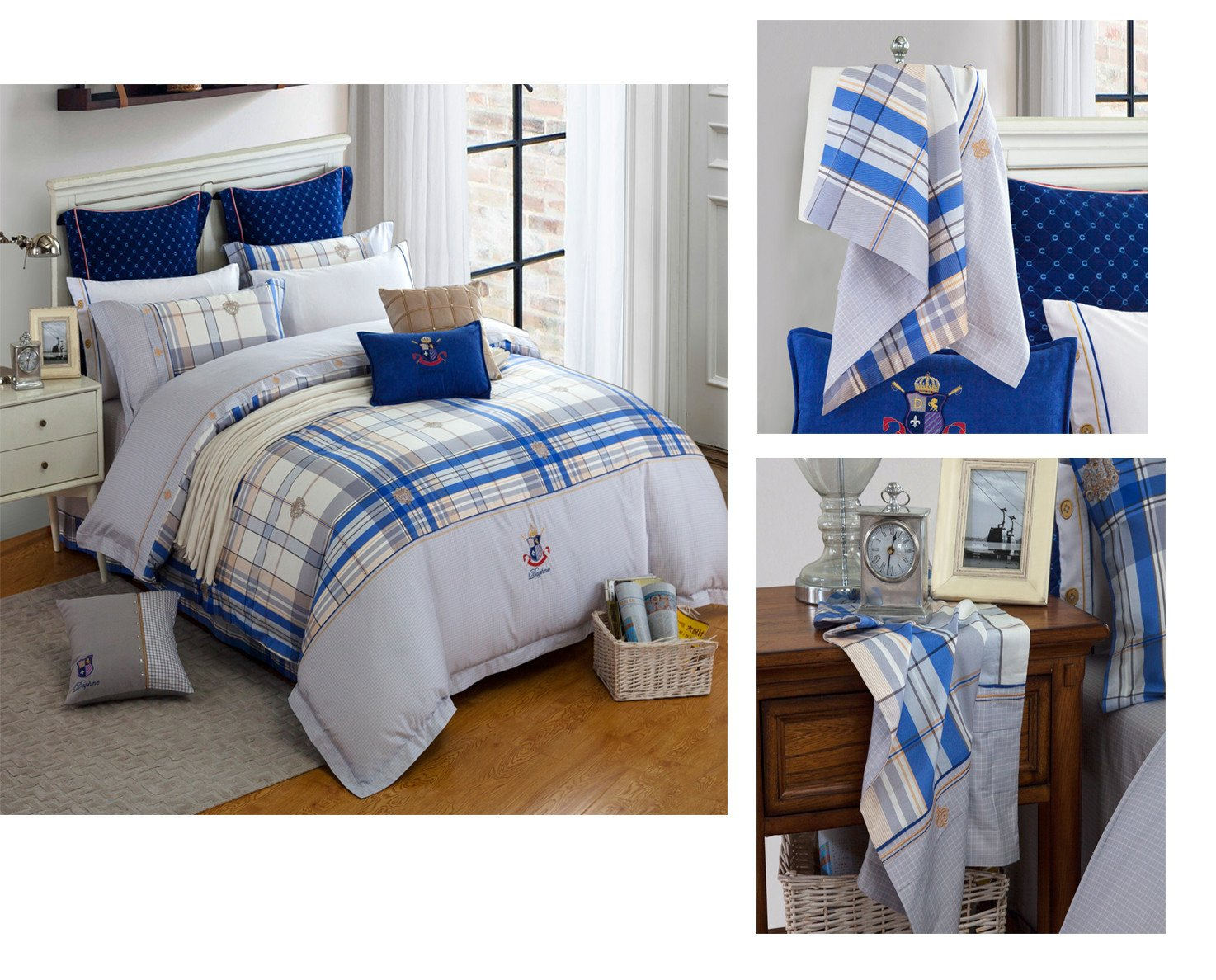 Custom fashionable Cotton Bedding Sets brightly 100 cotton bedding sets