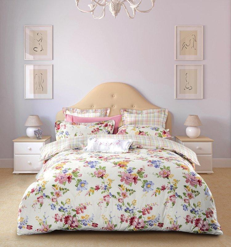 cotton vivid elegant Daphne 100 cotton bedding sets