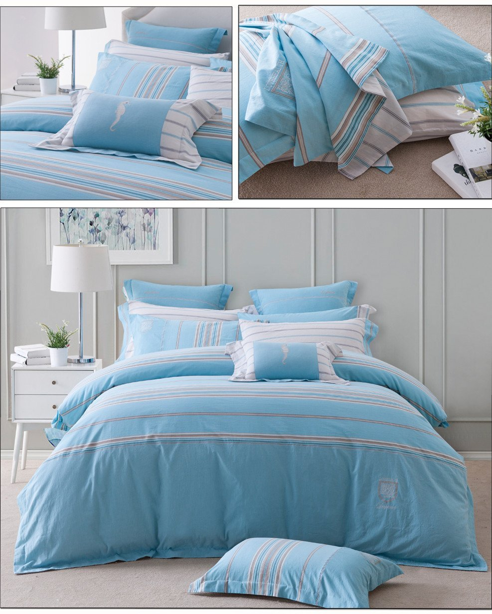 Daphne pattern sheet fashionable 100 cotton bedding sets blossom
