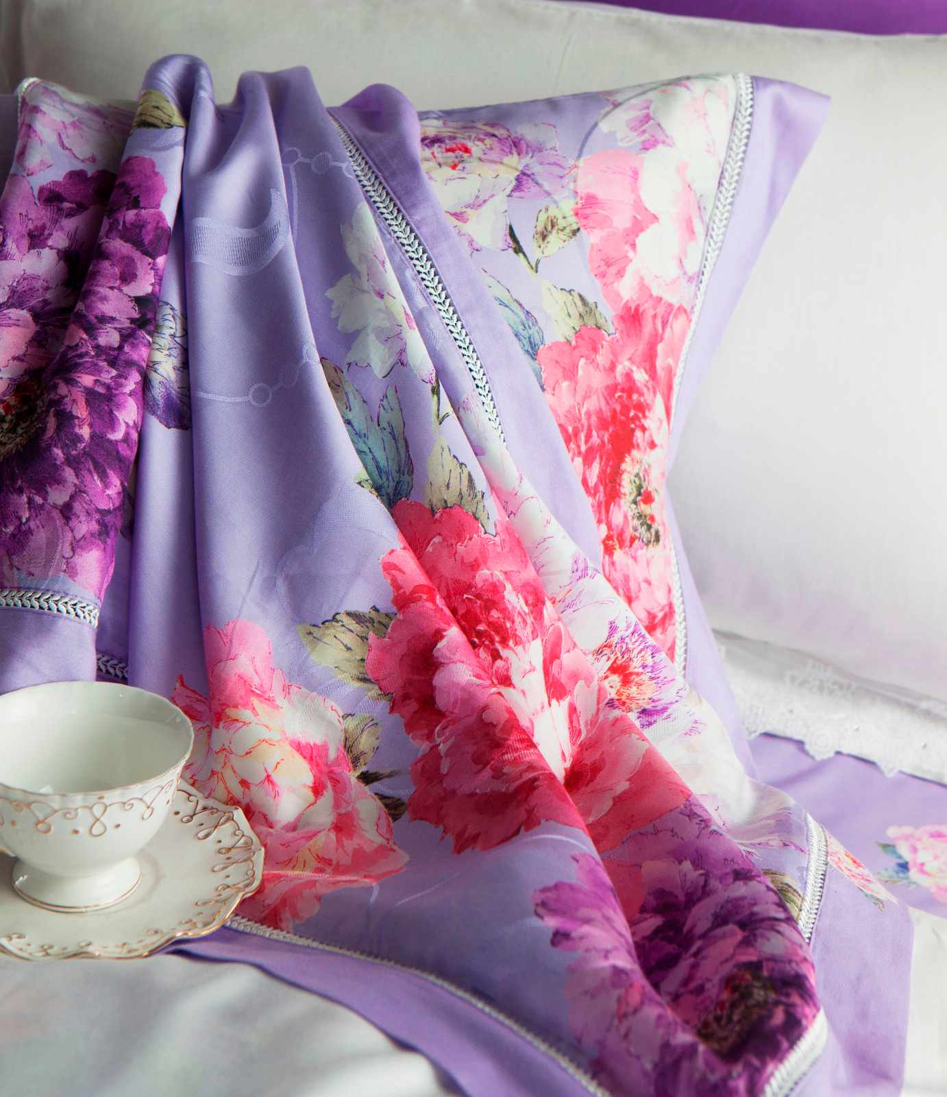 Daphne Peony Patterns Bedding Set  Lyocell and Viscose 6833 Other Material Printed image32