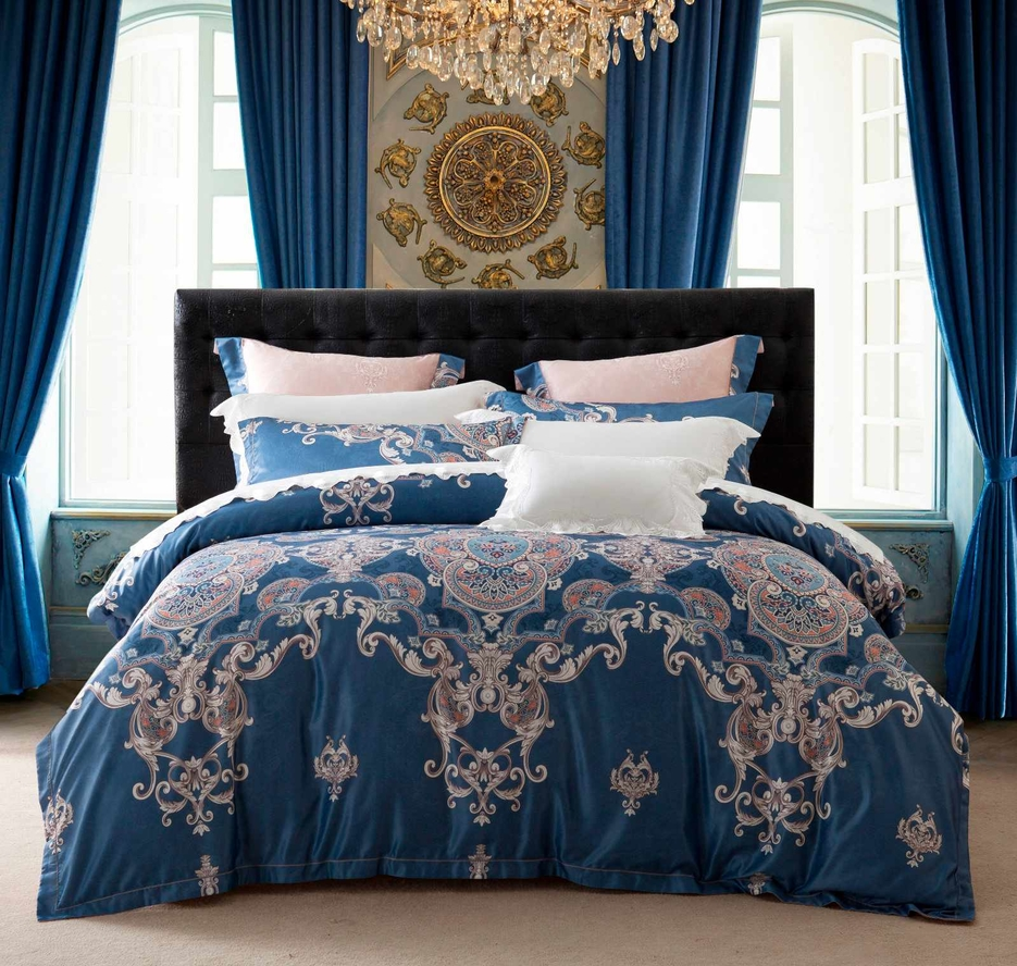 400TC Polyester and Rayon Jacquard Stunning Bed Linen   #6860