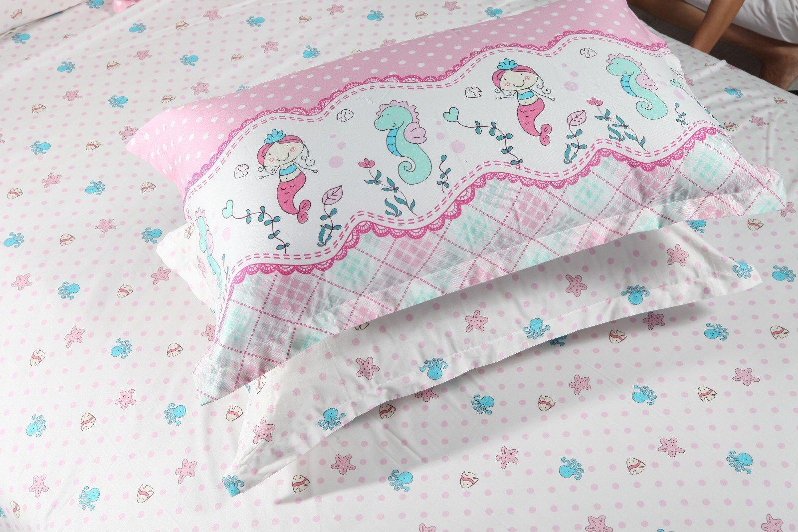 Adorable Mermaids Bedding Sheet Set Pure Cotton   #6818