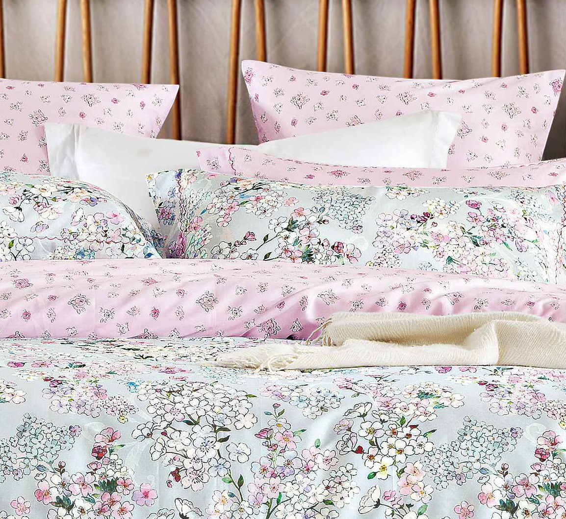 plaid elegant embroidery bedroom Cotton Bedding Sets Daphne