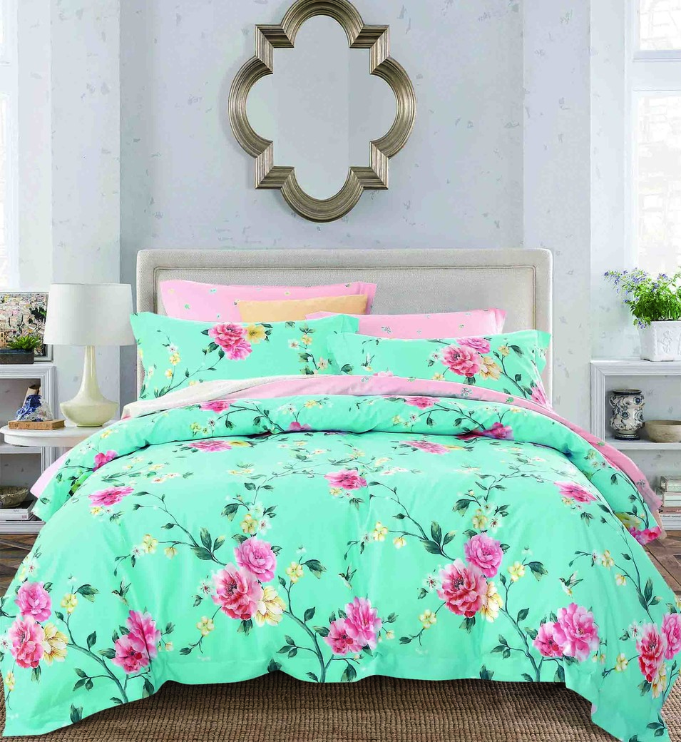 100% Cotton Peony Duvet Cover Set 161442