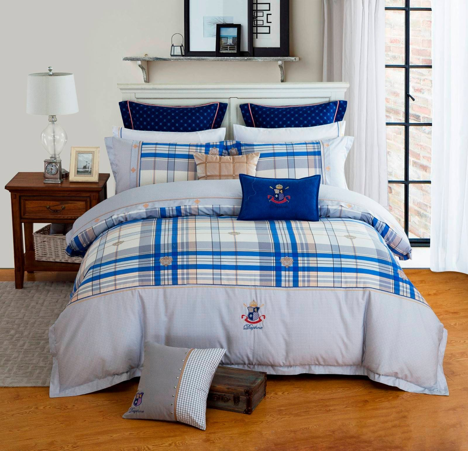 Classic Plaid Cotton Bedding  6840