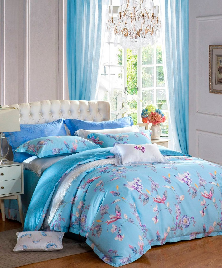 Bedroom Long-staple Cotton Printed Bedding Set  #6837