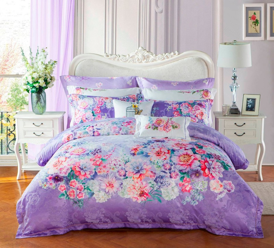 Polyester and Cotton Vividly  Jacquard Bedding Set   #6838