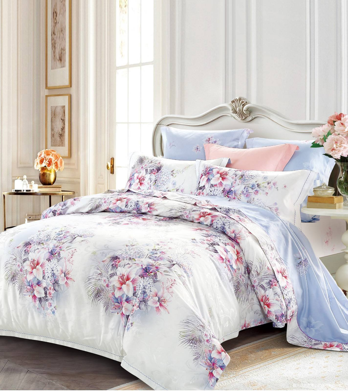 Beautiful Jacquard Cotton and Viscose Bedding   6829