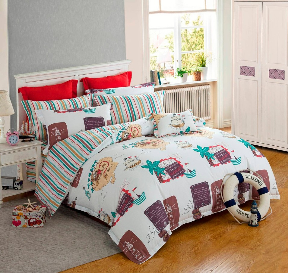 Lovely Printed Kid's Bedding Set  6832