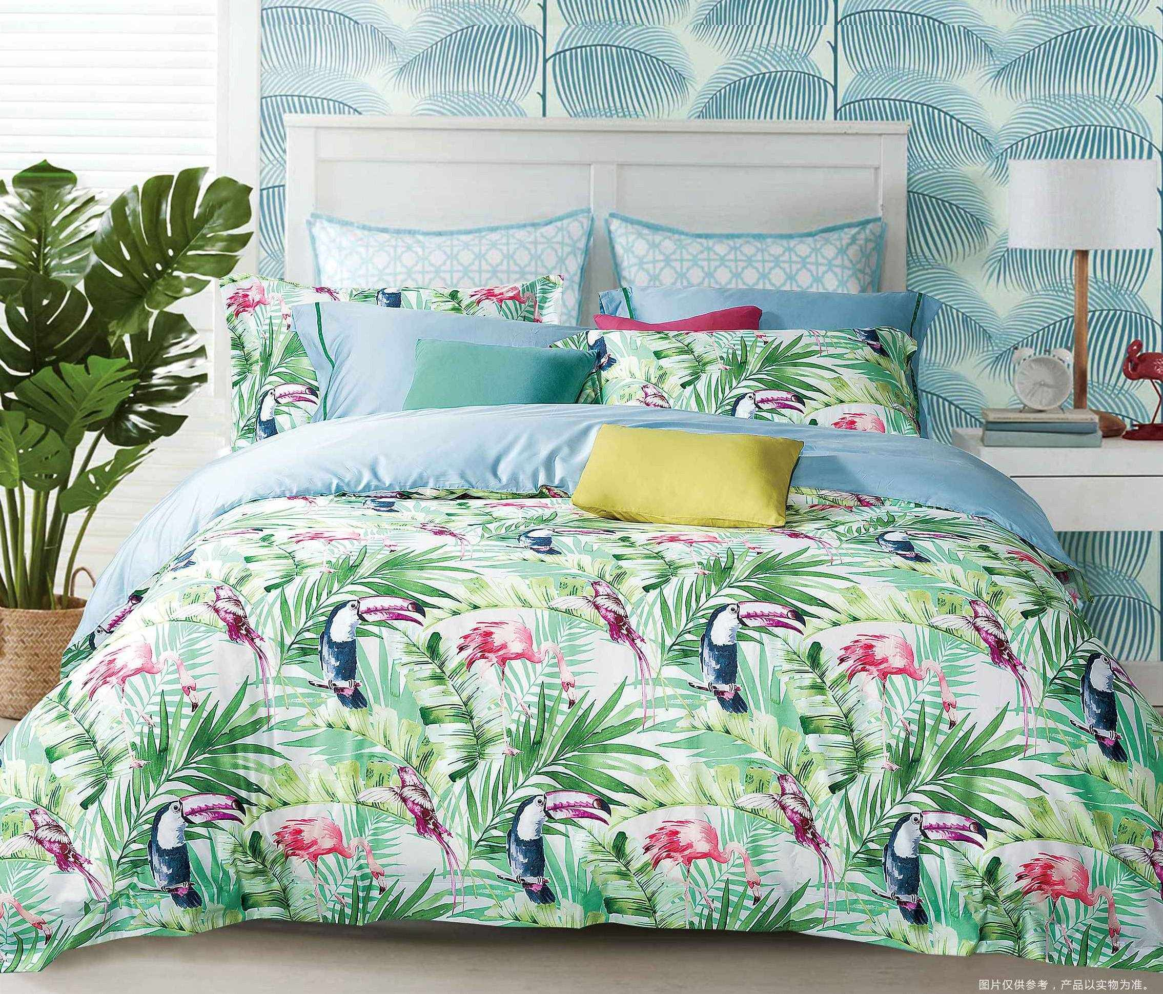 Tropical 500 Thread Count High Density Cotton Bedding Set