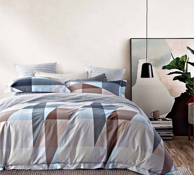 Aesthetic Printed Duvet Cover Set 300TC Long-staple Cotton171409