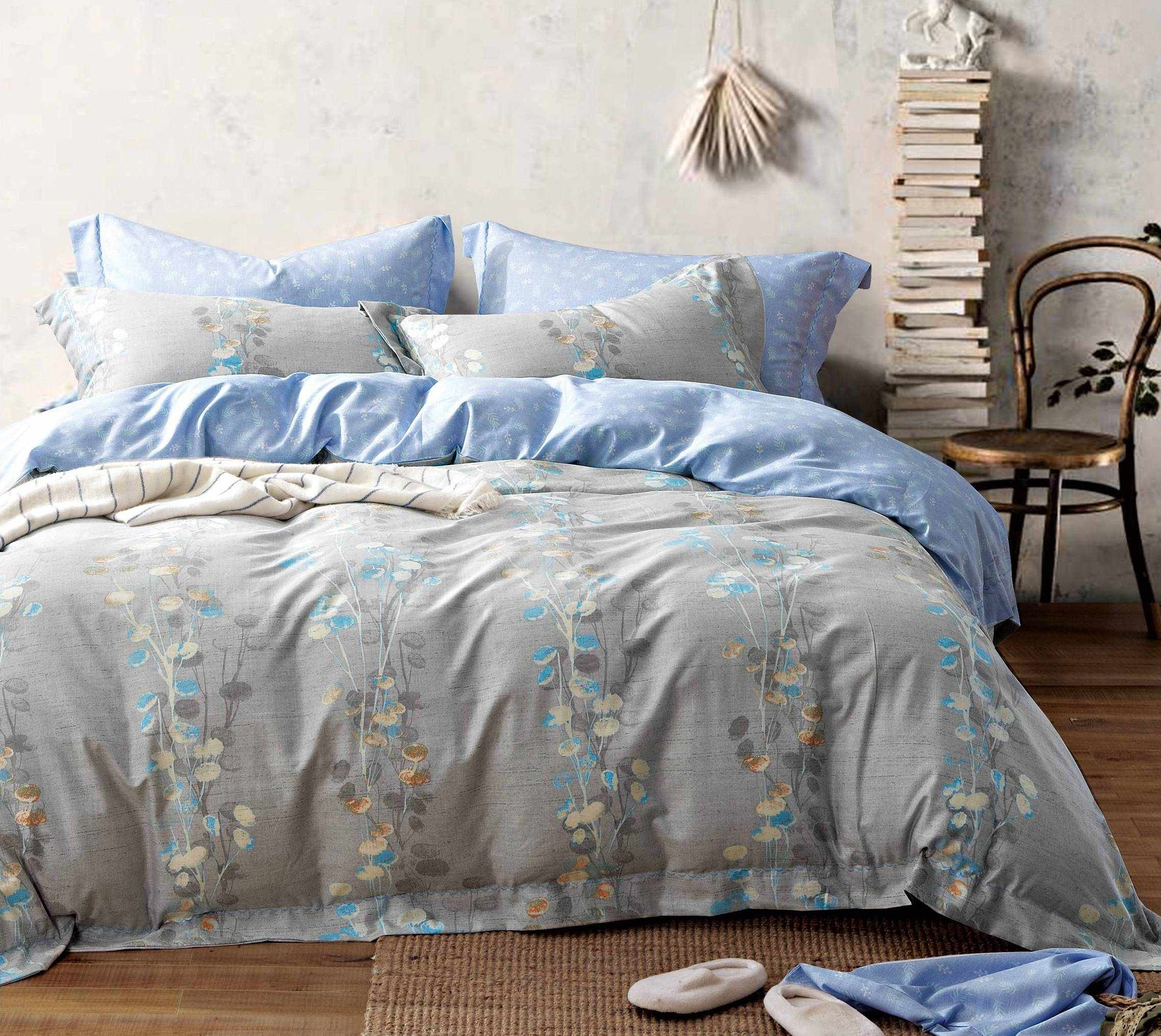 Comfortable Printed Bedding Set Cotton & Rayon 161821
