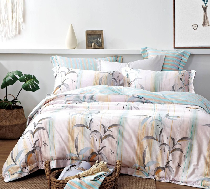 Leaves Design Bedding Set Cotton Rayon Soft Hand-feel 170755