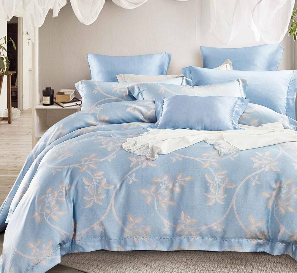 China Sky Blue Pattern Bedding Set Made of Lyocell 170711