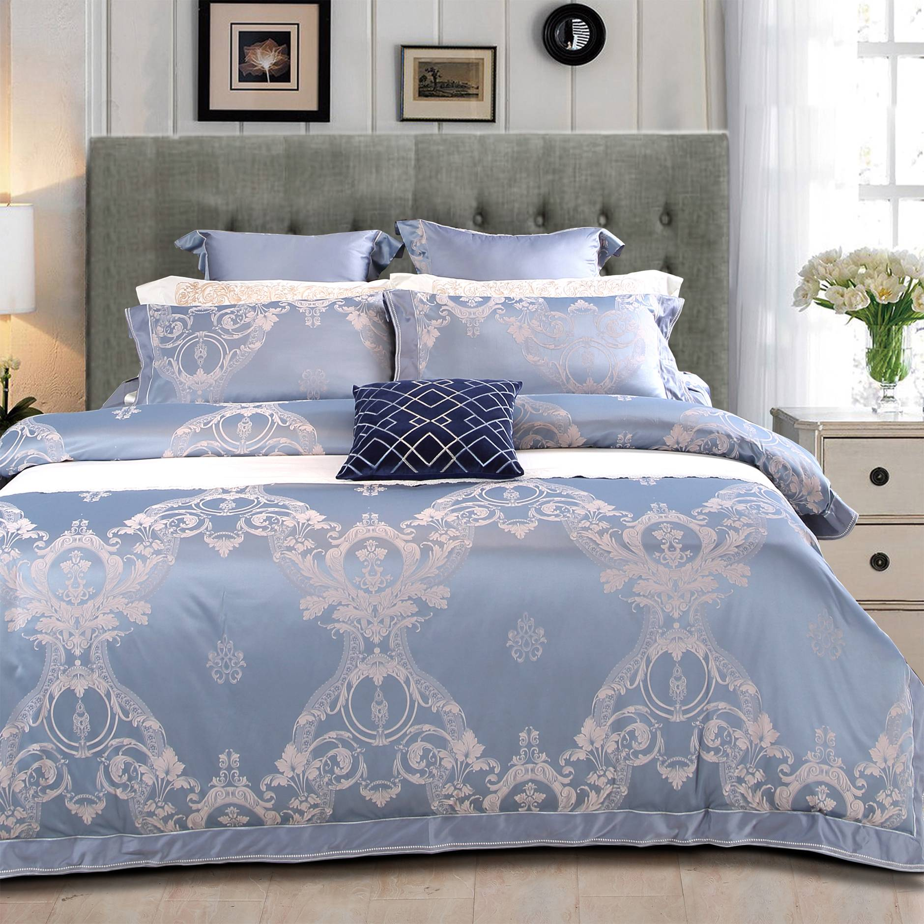 Refreshing Designed Jacquard Sheet set 6978
