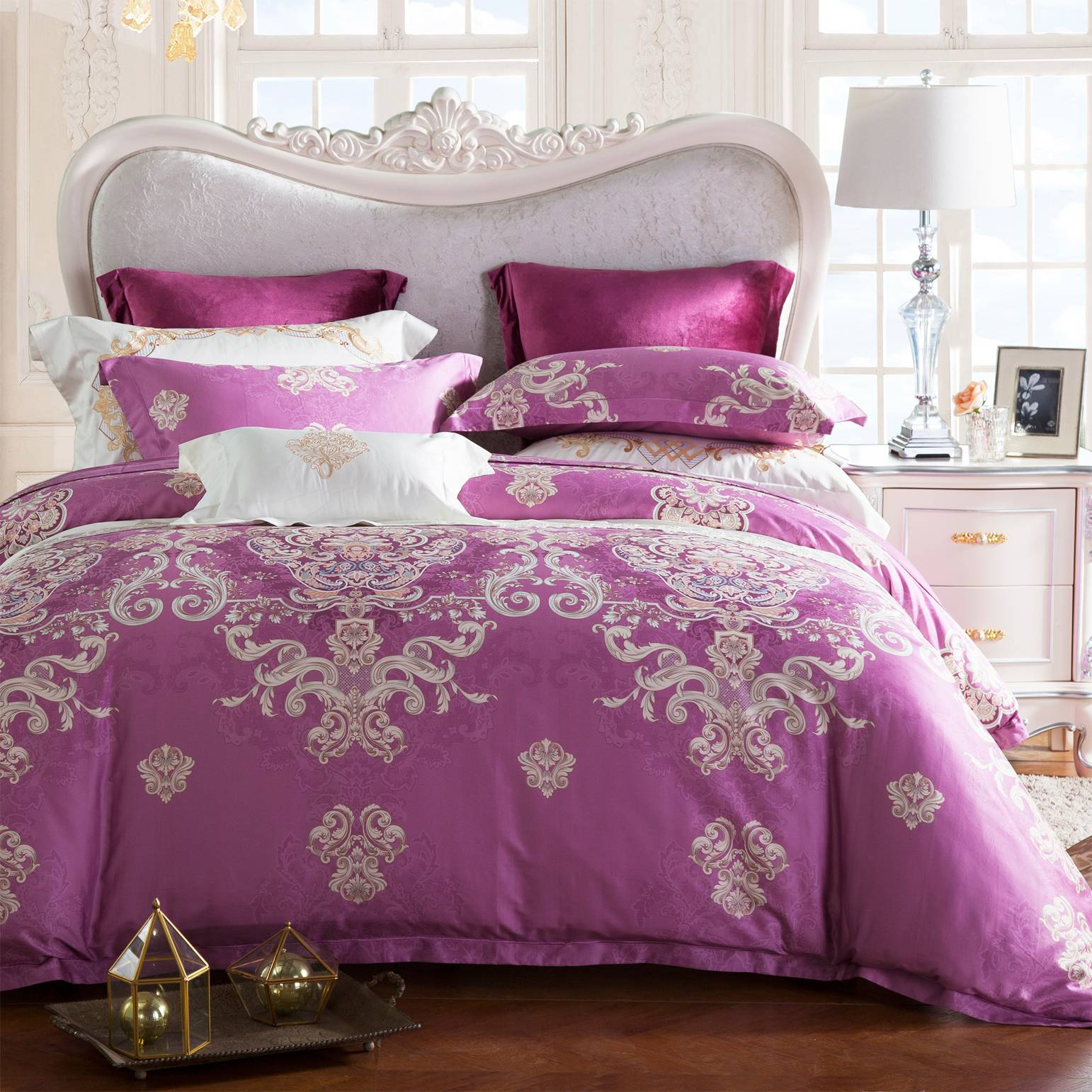 100% Pima Cotton Printed Bedroom Set Elegant  6836