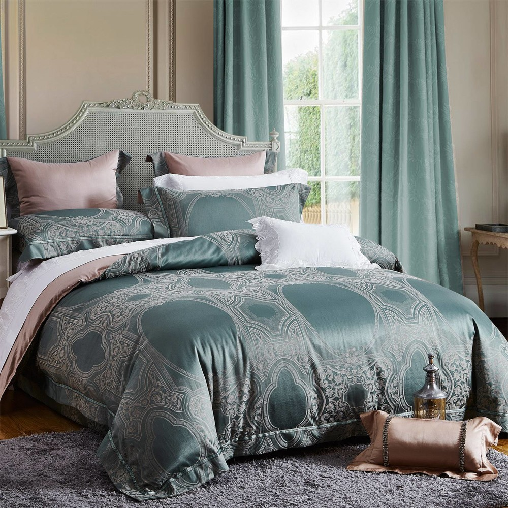 Blended Material Jacquard China Bedding Set High Quality