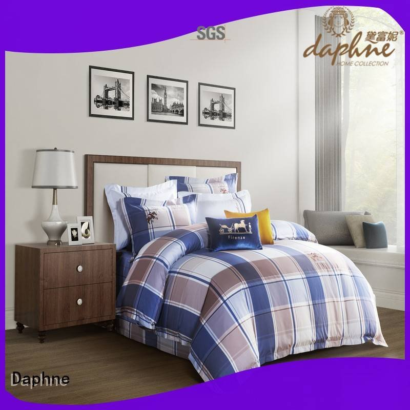 gorgeous embroidery printing patterns Daphne 100 cotton bedding sets