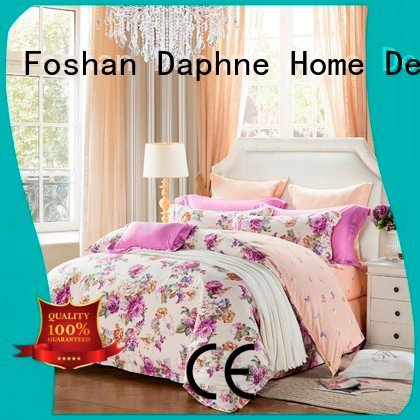 100 cotton bedding sets patterned prints embroidery Daphne