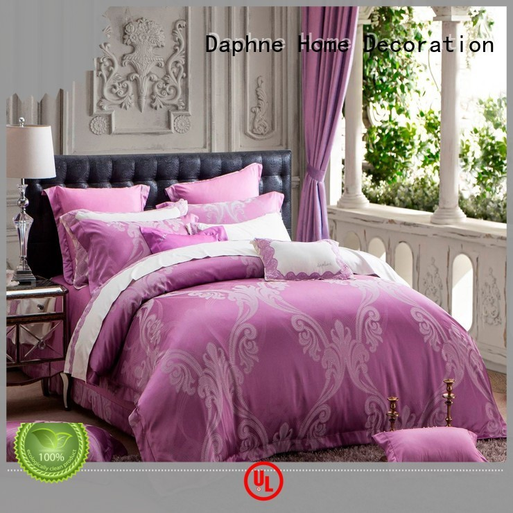 jacquard duvet cover king lustrous flat Jacquard Bedding Set manufacture
