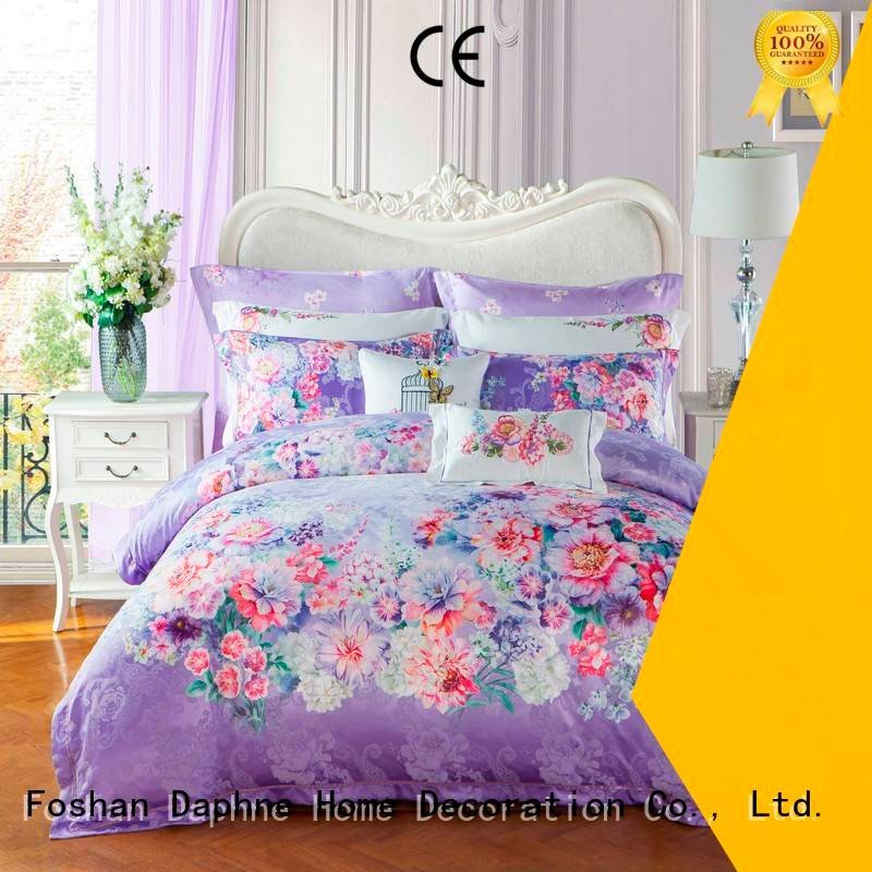 polyester vividly luxury bed Daphne Jacquard Bedding Set