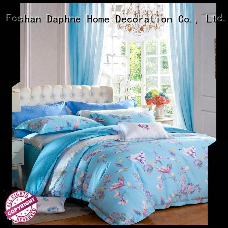 Daphne 100 cotton bedding sets set quality embroidery colored