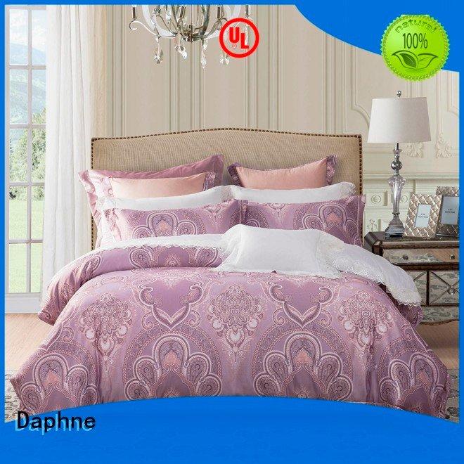 Hot jacquard duvet cover king designs Jacquard Bedding Set sets Daphne