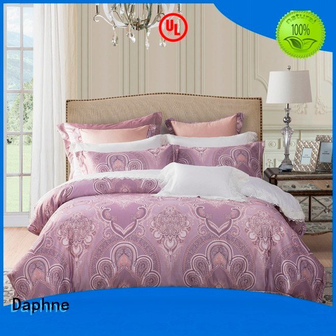 Hot jacquard duvet cover king designs Jacquard Bedding Set sets Daphne