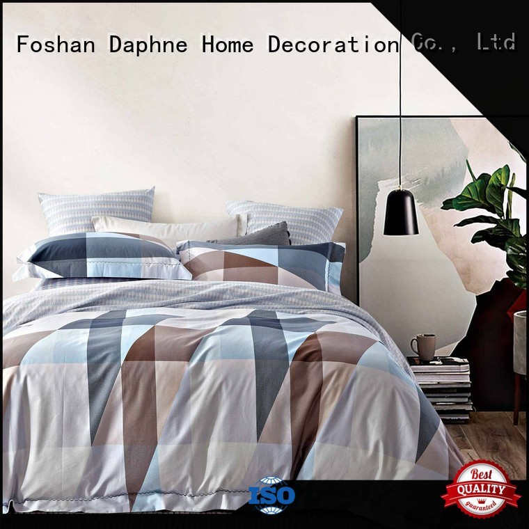 bed digital printed embroidery 100 cotton bedding sets Daphne Brand
