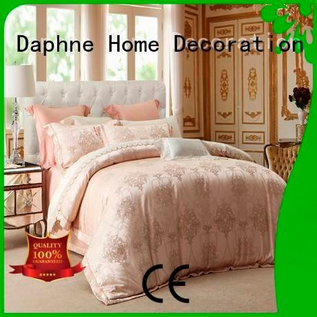 Custom floral Jacquard Bedding Set flat jacquard duvet cover king