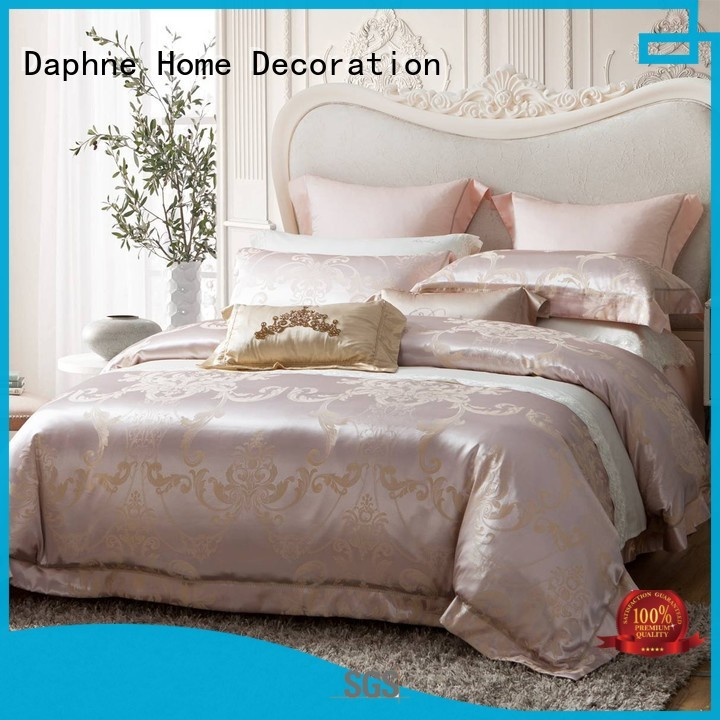 bed elegant silk Daphne Brand jacquard duvet cover king manufacture
