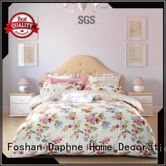Daphne Brand printing gorgeous quality Cotton Bedding Sets plaid
