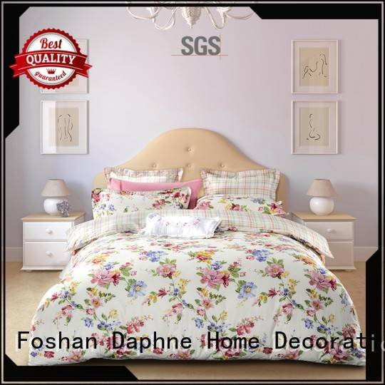 Daphne Brand printing gorgeous quality Cotton Bedding Sets plaid